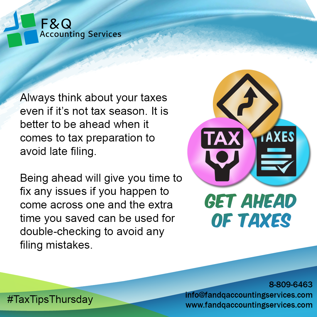 Get Ahead of Taxes