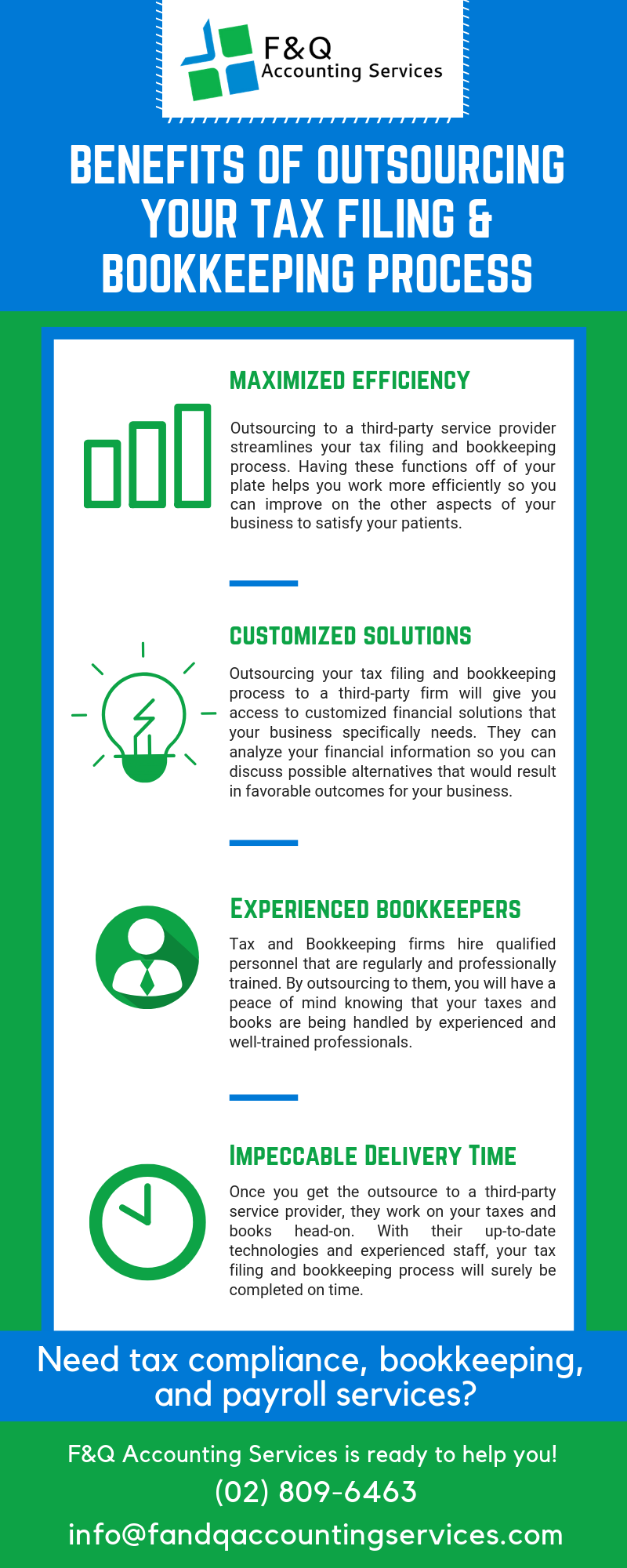 Benefits of Outsourcing Your Tax Filing & Bookkeeping Process
