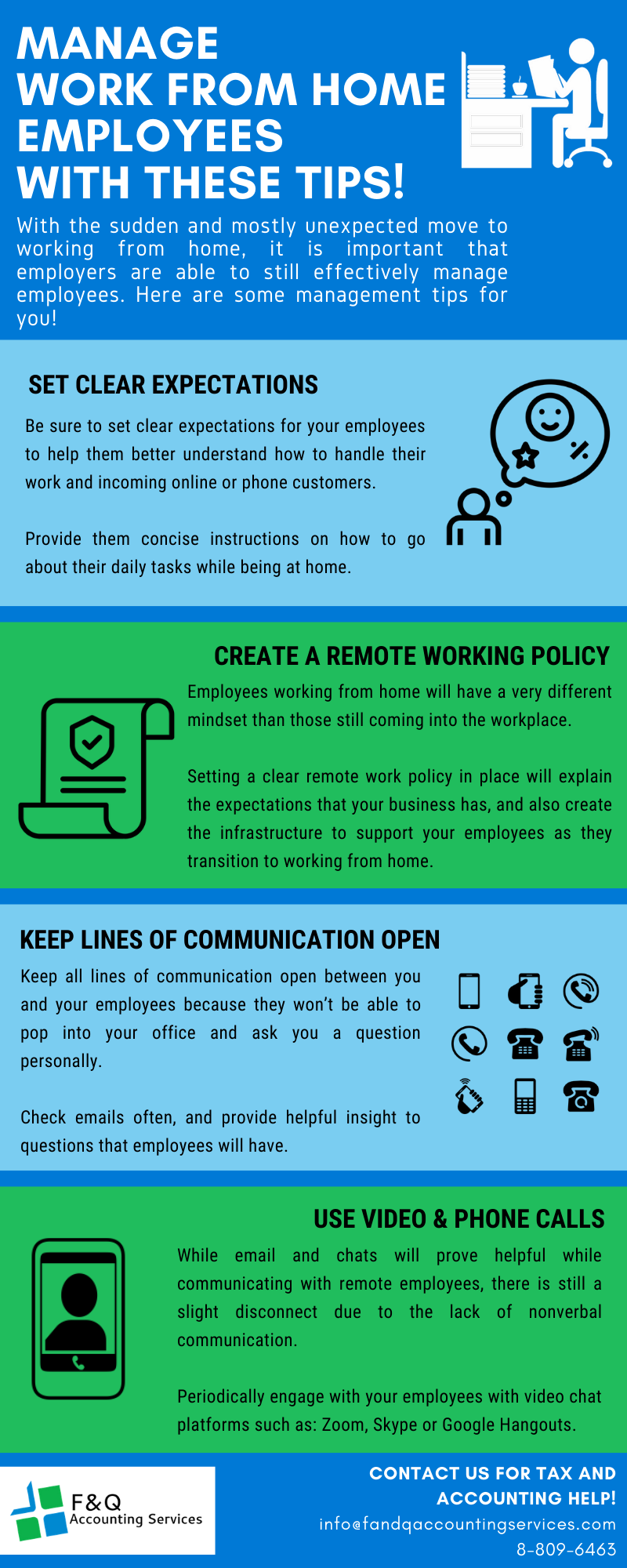 F&Q Infograph_Tips to Manage WFH Employees