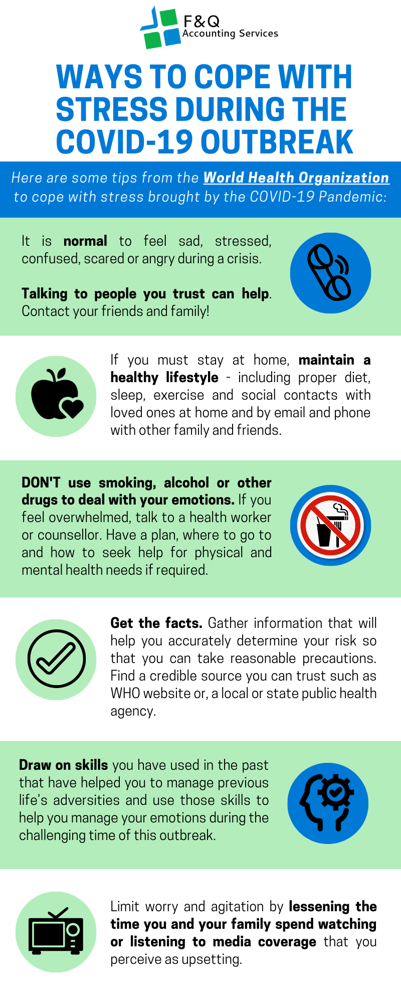 F&Q Infograph_Ways to cope with stress during the COVID-19 Outbreak