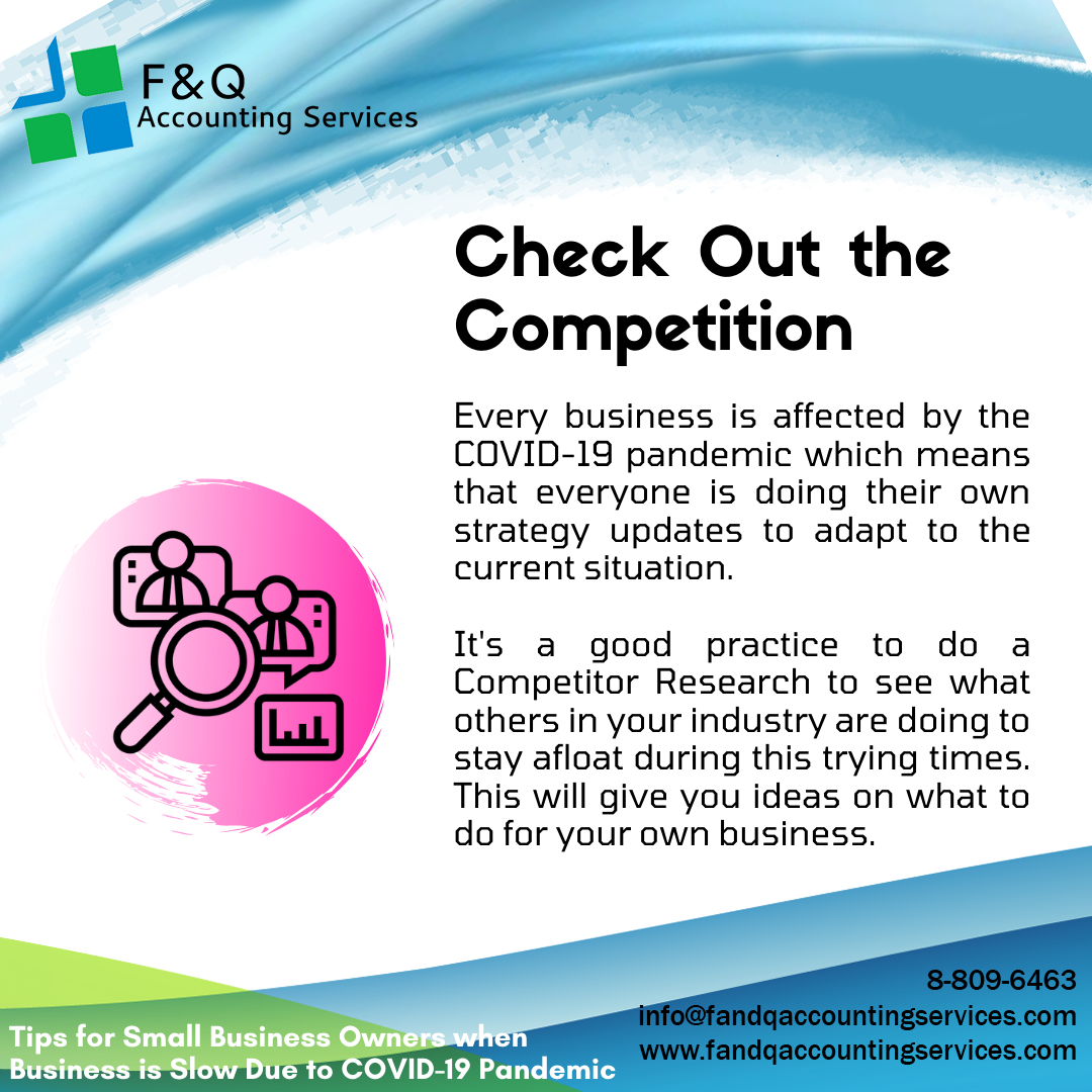Check Out the Competition - Tips for Businesses Experiencing Slowdowns