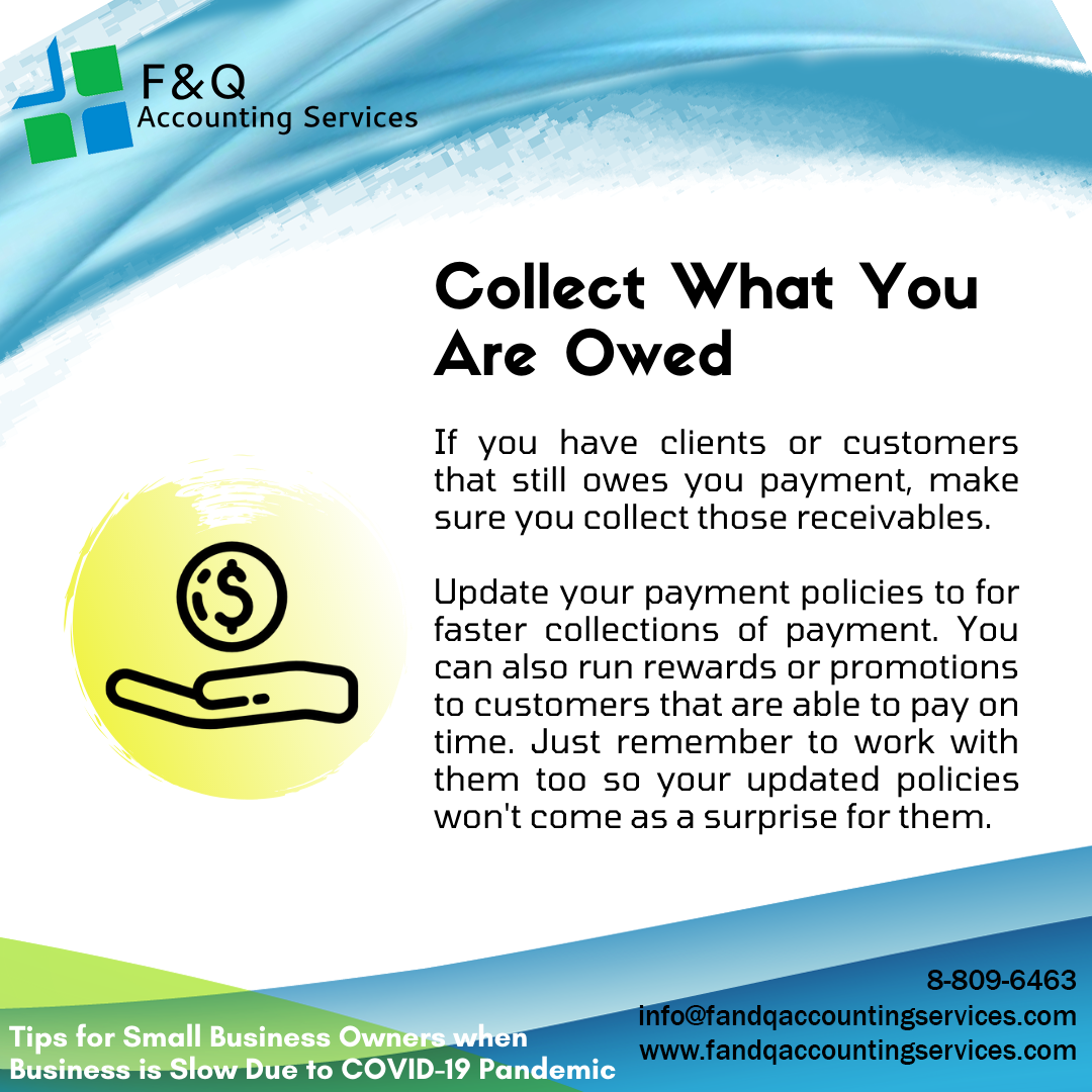 Collect What You Are Owed - Tips for Businesses Experiencing Slowdowns