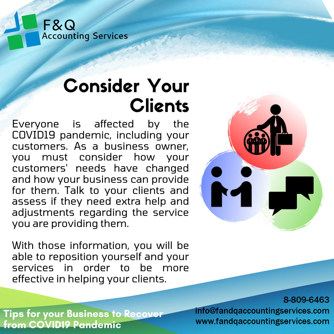 Consider Your Clients - Tips For Business To Recover