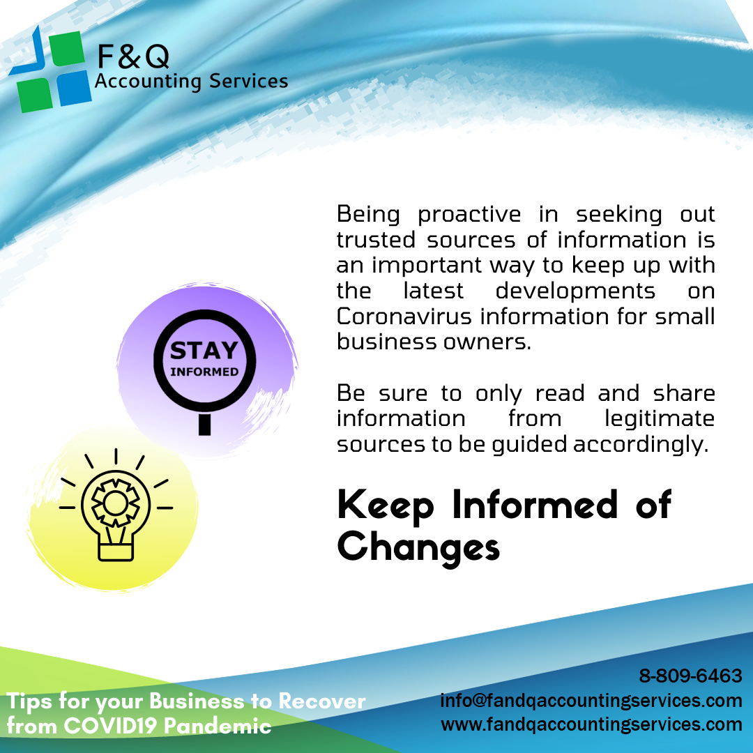 Keep Informed of Changes - Tips For Business To Recover