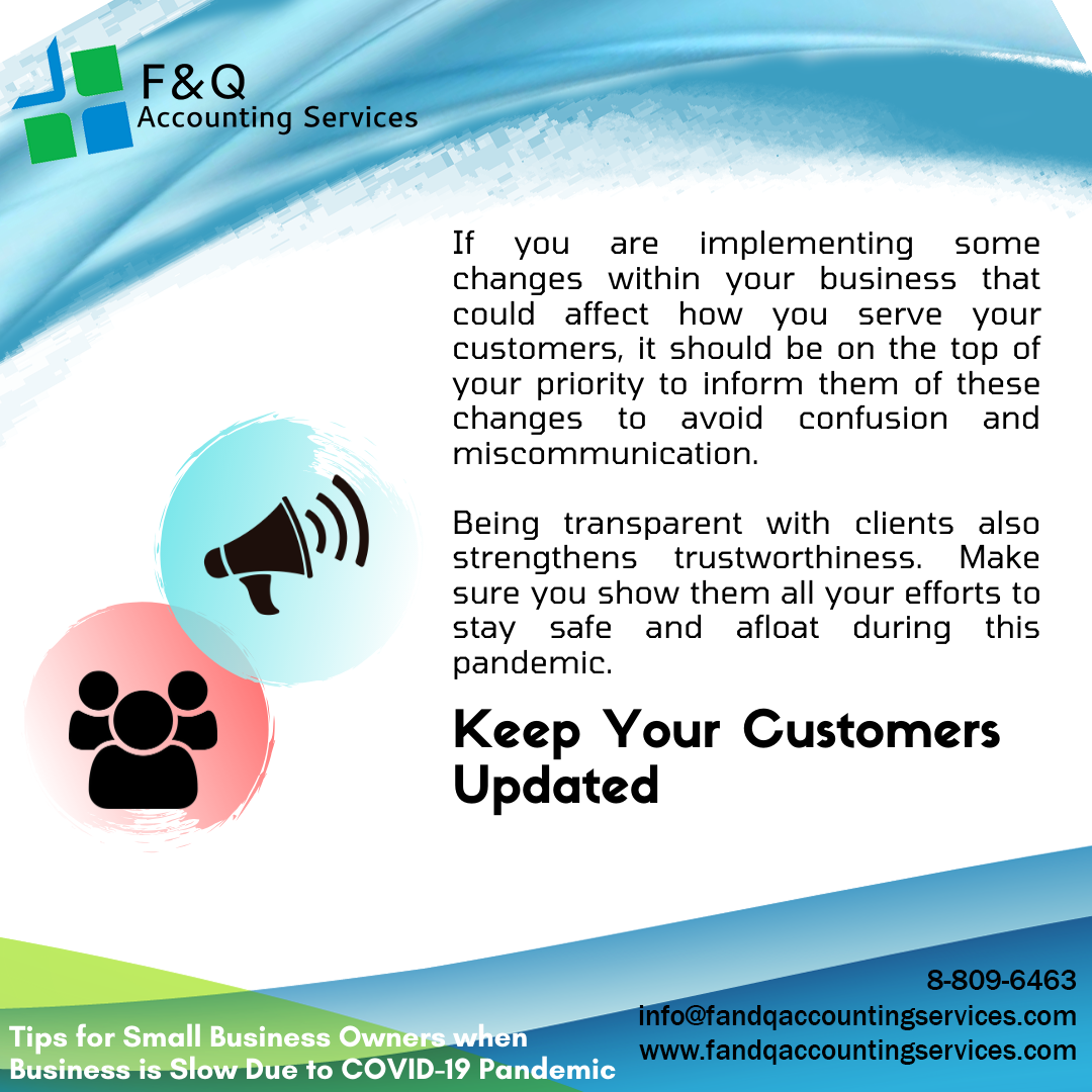 Keep Your Customers Updated - Tips for Businesses Experiencing Slowdowns