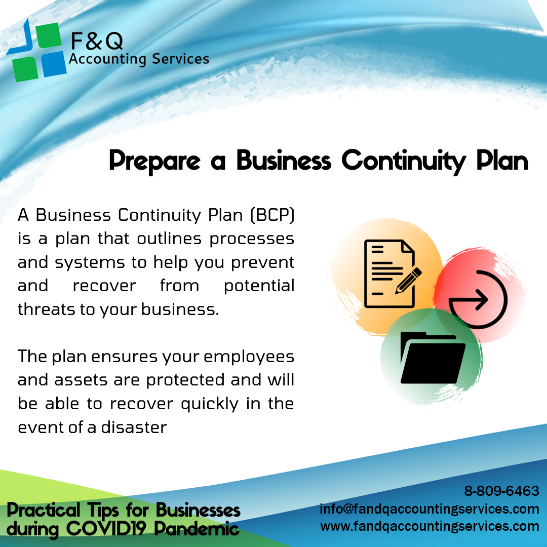 Prepare A Business Continuity Plan - Practical Tips for Businesses