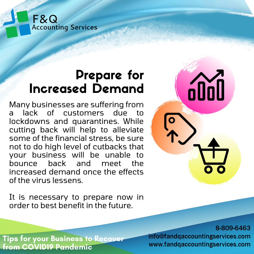 Prepare for Increased Demand - Tips For Business To Recover