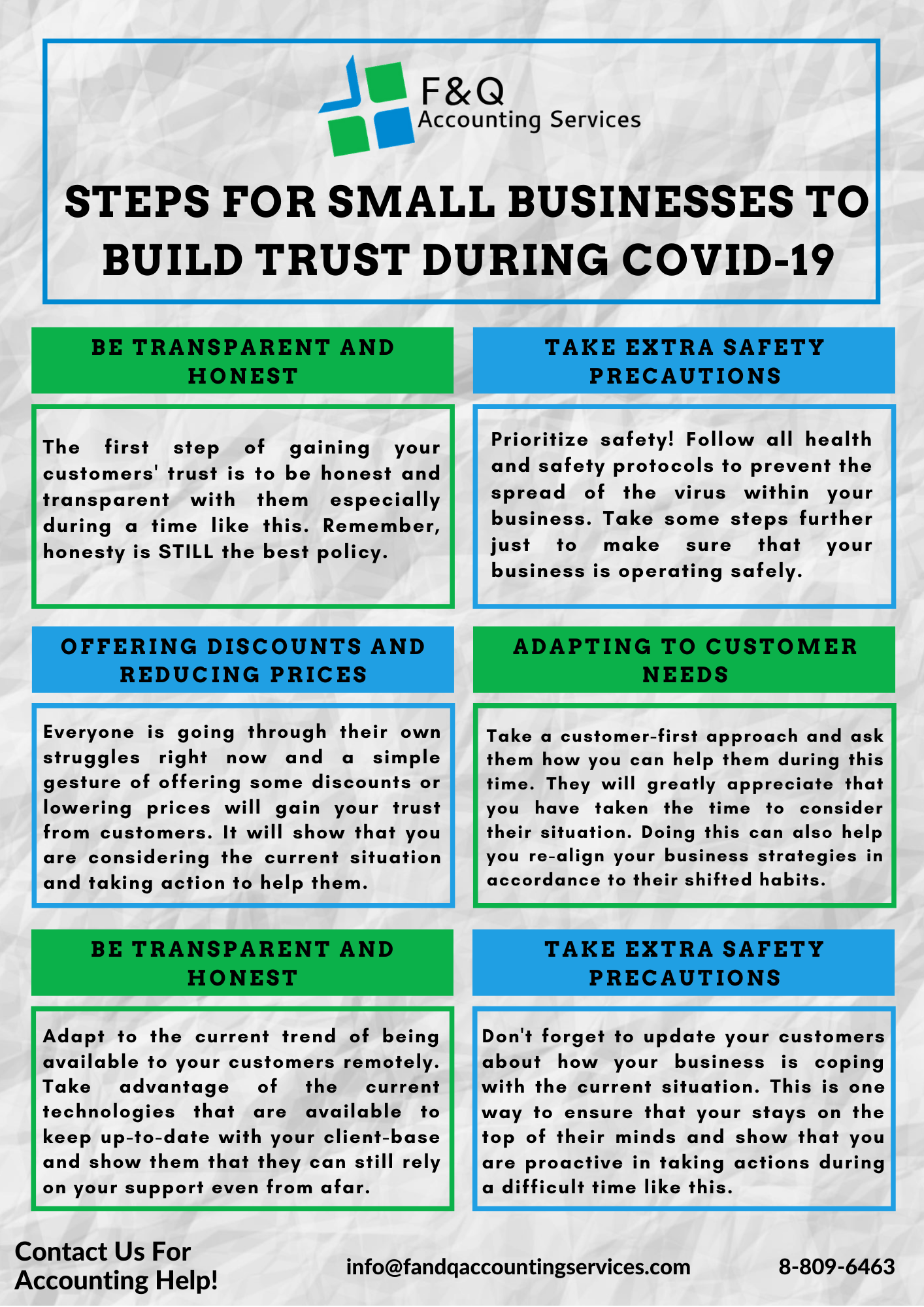 Steps to build Customer Trust