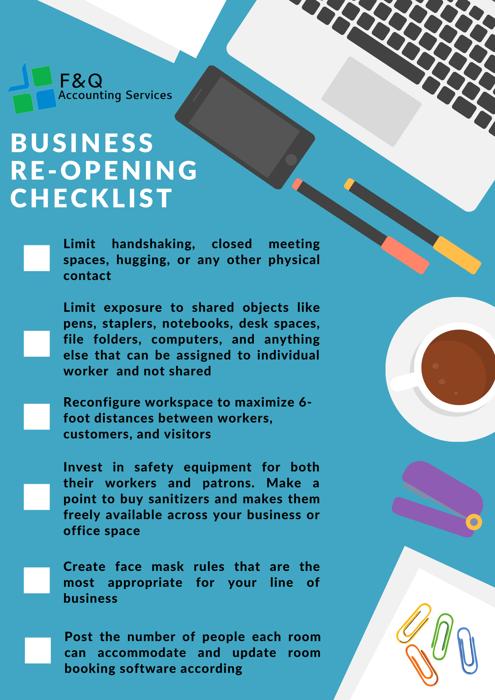 F&Q Infograph_business re-opening Checklist