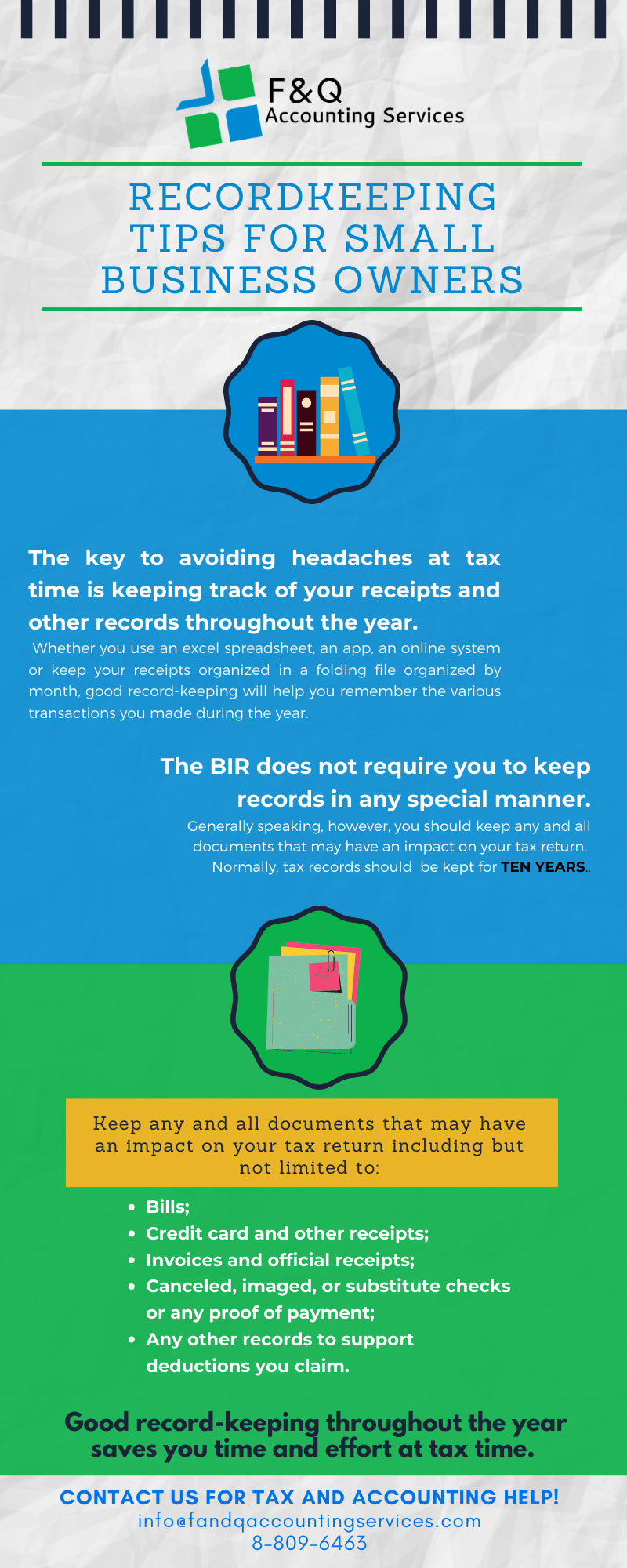 Recordkeeping Tips For Small Business Owners